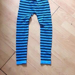 Girls striped leggings
